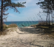 wejście na plażę w Chałupch